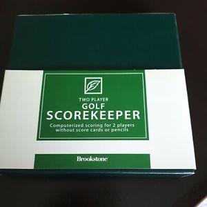 Brookstone Computerised Golf Scorekeeper Two Player New In Box