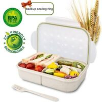 Wheat Fiber Bento Box for Kids Lunch Box Lunch Container for Adults, Leak Proof