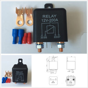 12V 120A Split Charge Relay 2 Pin for Car Automotive Starter Switch +2 Terminals