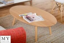 Oak Oval 60cm-80cm Height Coffee Tables