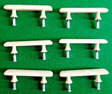 6 x Late Art Deco Bakerlite/Plastic Drawer Handles.  Pearlised Cream/Ivory