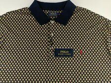 NEW Polo Ralph Lauren Classic Men 4XLT 4XL Tall Blue Geometric Polo Shirt  Pony