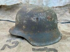 Original WW2 WWII German Helmet M-42 Size 64 Battle Damage