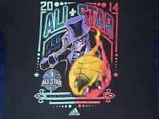 NBA 2014 All Star New Orleans Feb 14/16 adidas Basketball T-Shirt Adult Large