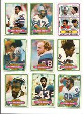1980 Topps Buffalo Bills Complete Football Card Team Set (17 Different)
