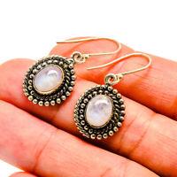 "Rainbow Moonstone 925 Sterling Silver Earrings 1 3/8"" Ana Co Jewelry E408590F"