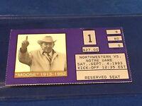 Northwestern vs Notre Dame College Football Ticket Stub - September 4, 1993