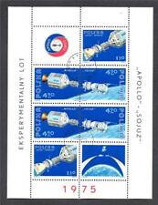 POLAND USED 1975 MS2376 APOLLO SOYUZ SPACE PROJECT