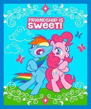 My Little Pony Pinkie Pie Rainbow Dash Friendship Is Sweet - Cotton Fabric Panel