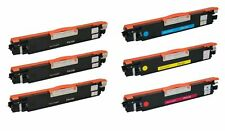 6pk CE310A CE311 BCMY Toner Cartridge for HP Color LaserJet Pro 100 M175a MFP