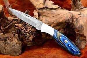 MH KNIVES RARE CUSTOM DAMASCUS STEEL FOLDING/POCKET KNIFE BACK LINER LOCK MH-39