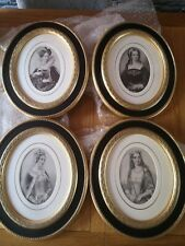More details for set of 4 antique engraving framed pictures, prints koll. f koll 1849