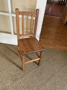 Antique Solid Oak Child's Chair  Paris Mfg. Co.