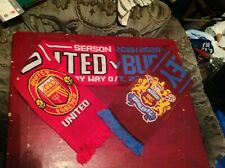 Manchester United v Burnley FC 2019/20 JACQUARD SCARF POSTFREE UK