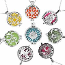 Vintage Pendant Necklace Perfume Silver Oil Essential Diffuser Necklaces Gifts