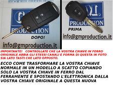 CHIAVE COVER GUSCIO A SCATTO PER TELECOMANDO 2 TASTI TOYOTA AURIS RAV4 2013