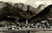 Oberstdorf Allgäu Postkarte 1963 gelaufen Gesamtansicht mit Blick gegen Kratzer