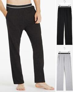 JACAMO Twin Pack Elastic Waist Lounge Pants Black/Grey   W54/56    (FS104-9)
