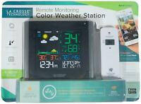 New LA CROSSE Remote Monitoring Color WEATHER STATION w/ Remote Wi-Fi Enabled !