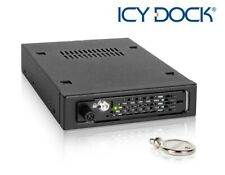 "New ICY Dock ToughArmor EX MB491SKL-B 2.5"" SATA SAS SSD HDD Mobile Rack with Key"