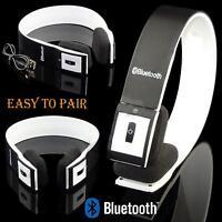 Foldable Wireless Bluetooth Headset HIFI Stereo Headphones With Mic Black FT