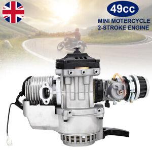 49cc MiniMoto Pullstart Engine Dirt Bike Quad Dirt Race Motard Mini Moto GP Cag