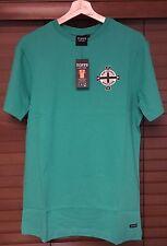 Toffs Retro Irlanda Del Norte Camiseta/Top-el mejor 11, realzan, nuestro país Wee Ulster