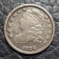 Silver 1834 Capped Bust 10 Cents Dime | Fine Condition