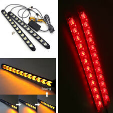 Car 12 LED Amber/Red Switchback Flowing Strip Arrow DRL Turn Signal Light