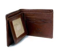 Leather Bifold Passcase Flap Wallet ID Window Italian Leather by Tony Perotti