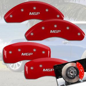 "2002-2008 Mini Cooper Base S Front + Rear Red ""MGP"" Disc Brake Caliper Covers"