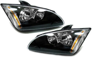 Schwarze Klarglas Scheinwerfer für Ford Focus II ab 04