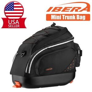 Ibera Bike Rear Trunk Bag Mountain Road Bike Quick-Release Mini Commuter Bag