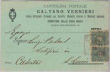 53814  - ITALIA REGNO - Storia Postale: CARTOLINA pubblicitaria da NAPOLI - 1899