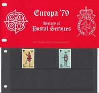 ISLE OF MAN Presentation Pack 1979 EUROPA HISTORY OF POSTAL SERVICES