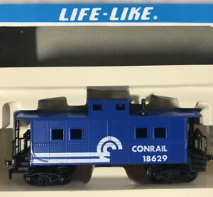 Vintage Life-Like HO Scale ~ CONRAIL Caboose 18629 (Blue) ~ NEW IN BOX