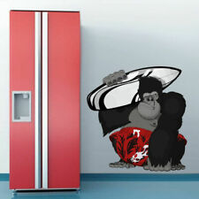 Full Color Wall Decal Sticker Monkey Ape Surf Board Surfing Gorilla (Col664)