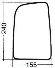 MERCEDES SPRINTER 2006> VETRO SPECCHIO SPECCHIETTO RETROVISORE DX MIRROR GLASS