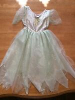 Tinker Bell Costume Green Sequins Cosplay Dress Leaves Tube Top Skirt Role Play