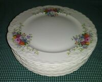 8 Taylor Smith Taylor Fairway TST916 Lunch Plates 9.25 Multi Colored Bouquets EX