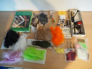 Fly Tying Materials, Vice, Book