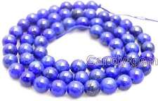 """SALE Small 8mm Round Blue natural lapis lazuli loose beads strand 15""""-lo629"""
