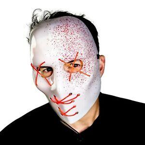 Slasher Blut Spray Halloween Kostüm Leuchtend Scary Gesichtsmaske Zubehör
