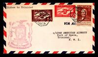 Portugal 1941 F18-22b FFC, Lisbon to Trinidad - L7592