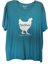 Womens T-Shirt Mother Cluckers of the cluckers  salmon comfort colors med