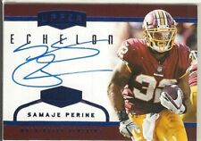 2017 Plates and Patches Blue Samaje Perine RC On-card SP Auto #'d /50! Redskins
