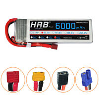 HRB 11.1V 6000mAh 3S LiPo Battery 50C 100C  for RC Car Truck FPV Heli Plane Boat