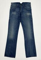 Borsa jeans uomo usato W31 tg 45 straight gamba dritta denim blu boyfriend T5515
