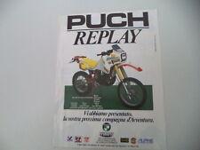 advertising Pubblicità 1986 MOTO PUCH FRIGERIO 250 REPLAY