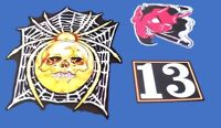 Metallica Kirk Hammett ESP KH-3 Spider Skull 13 Devil Sticker Decal Set